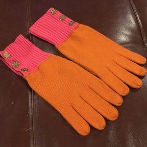 Orange & pink Tory Burch gloves.